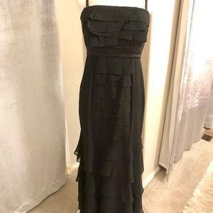 BCBG Black Tiered Evening Gown